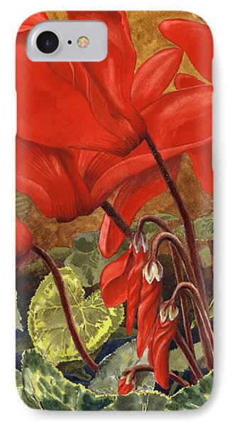 Cyclamen IPhone Case by Karen Wright