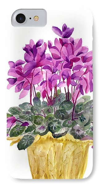 Cyclamen IPhone Case by Neela Pushparaj