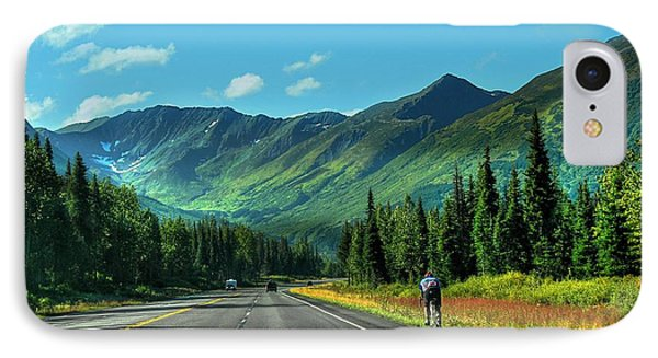Cycling In Denali   IPhone Case