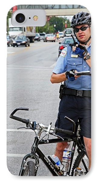 Cycling Policeman IPhone Case
