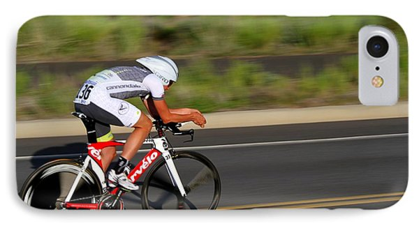 IPhone Case featuring the photograph Cycling Time Trial by Kevin Desrosiers