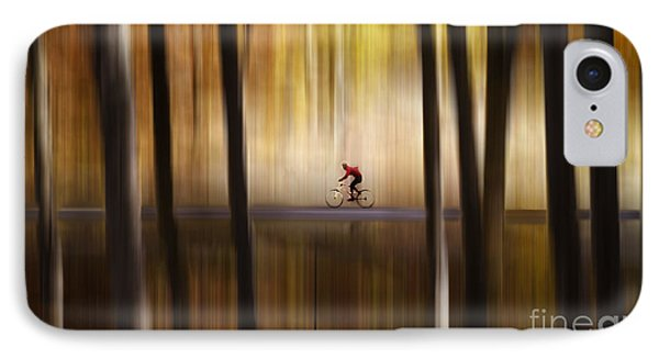 Cyclist In The Forest IPhone Case