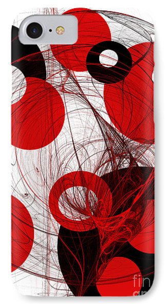 Cyclone Circle Abstract IPhone Case by Andee Design