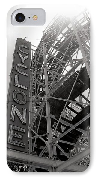 Cyclone Rollercoaster - Coney Island IPhone Case by Jim Zahniser