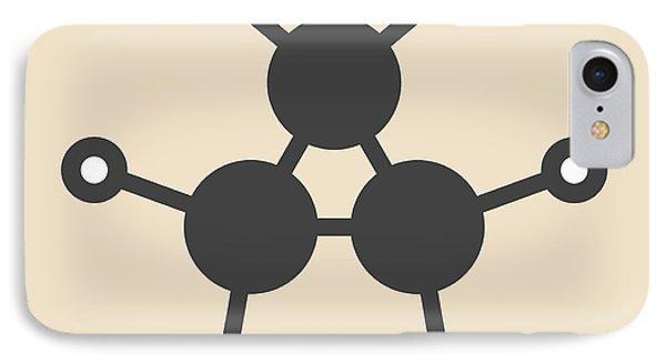 Cyclopropane Cycloalkane Molecule IPhone Case by Molekuul