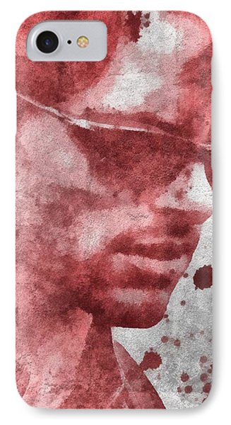 Cyclops X Men Paint Splatter IPhone Case by Dan Sproul