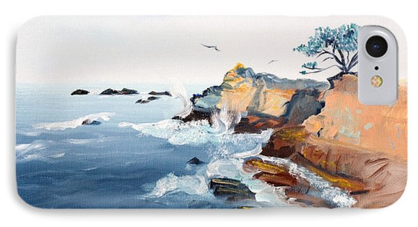 Cypress And Seagulls Phone Case by Asha Carolyn Young