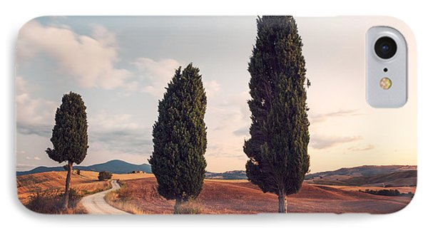 Cypress Lined Road In Tuscany IPhone Case by Matteo Colombo