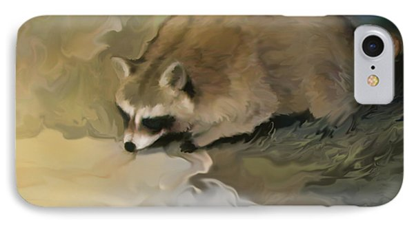 Cypress Raccoon IPhone Case by Curtis Chapline