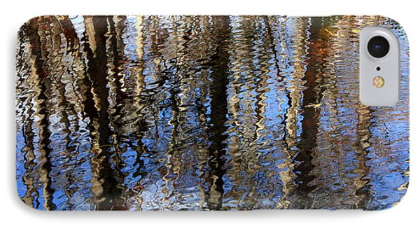 Cypress Reflection Nature Abstract Phone Case by Carol Groenen