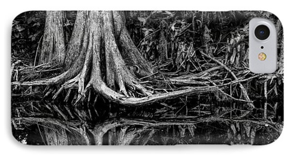 Cypress Roots - Bw Phone Case by Christopher Holmes