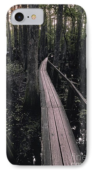 Cypress Swamp Trail Phone Case by Ron Sanford