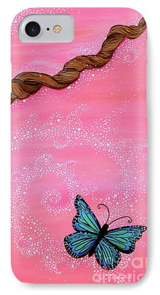IPhone Case featuring the painting Cypress Wand by Deborha Kerr