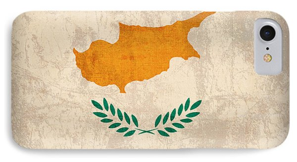 Cyprus Flag Vintage Distressed Finish IPhone Case by Design Turnpike