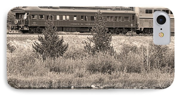 Cyrus K  Holliday Private Rail Car Bw Sepia Phone Case by James BO  Insogna
