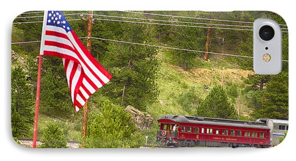 Cyrus K. Holliday Rail Car And Usa Flag Phone Case by James BO  Insogna
