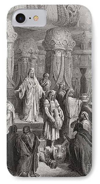 Cyrus Restoring The Vessels Of The Temple IPhone Case