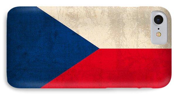 Czech Republic Flag Vintage Distressed Finish IPhone Case
