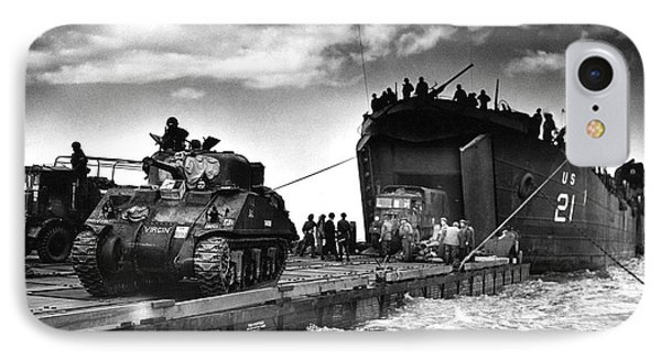 D-day Landings Harbour IPhone Case by Us National Archives