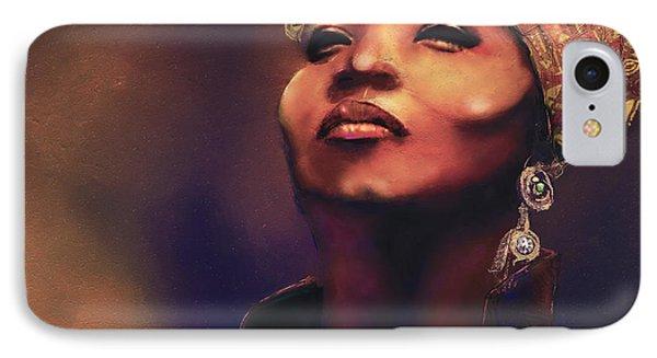 Da Queen IPhone Case by Howard Barry