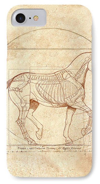 da Vinci Horse in Piaffe IPhone 7 Case