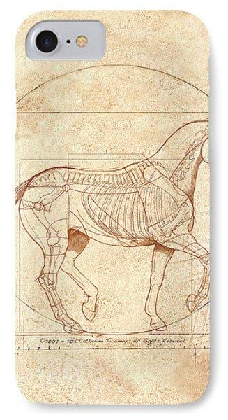 da Vinci Horse in Piaffe IPhone 7 Case by Catherine Twomey