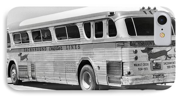 Dachshound Charter Bus Line IPhone Case by Underwood Archives