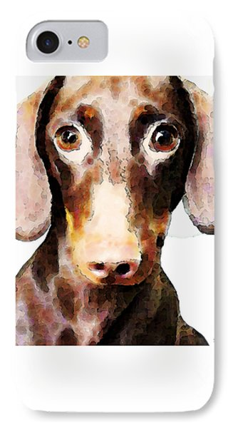 Dachshund Art - Roxie Doxie IPhone Case