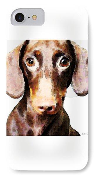 Dachshund Art - Roxie Doxie Phone Case by Sharon Cummings