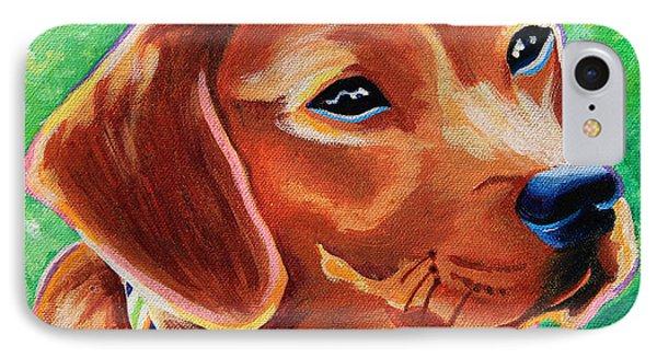 Dachshund Beagle Mixed Breed Dog Portrait IPhone Case