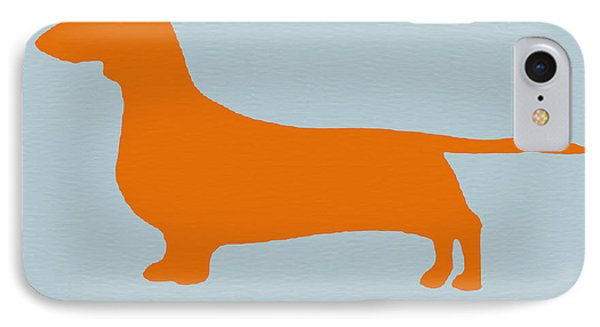 Dachshund Orange Phone Case by Naxart Studio