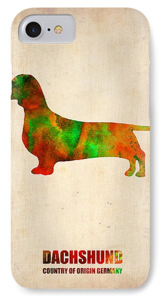 Dachshund Poster 2 IPhone Case
