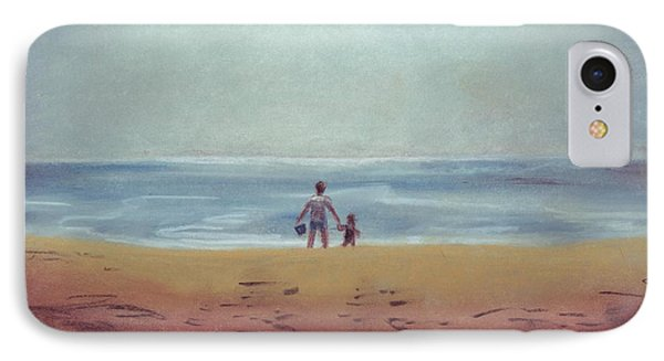 Daddy At The Beach Phone Case by Samantha Geernaert