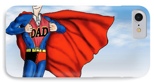 Daddys Home Superman Dad Phone Case by Tony Rubino