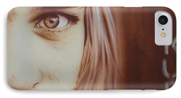 Kurt Cobain - ' Daddys Little Girl Aint A Girl No More ' IPhone Case by Christian Chapman Art