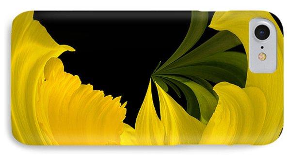 Daffodil Arc IPhone Case by Cyndy Doty