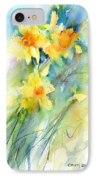 Daffodils Phone Case by Christy Lemp