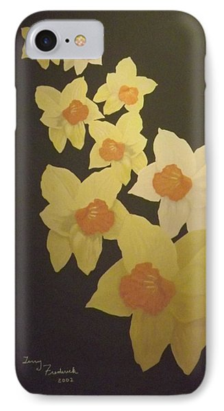IPhone Case featuring the digital art Daffodils by Terry Frederick