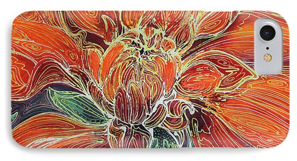 Dahlia Floral Abstract  IPhone Case