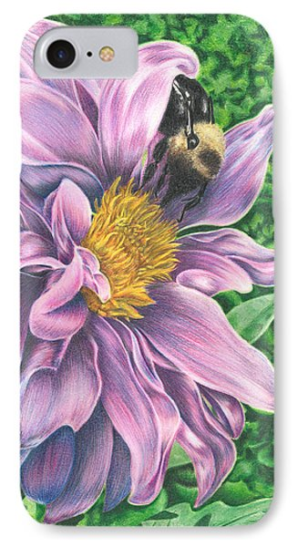 IPhone Case featuring the drawing Dahlia by Troy Levesque