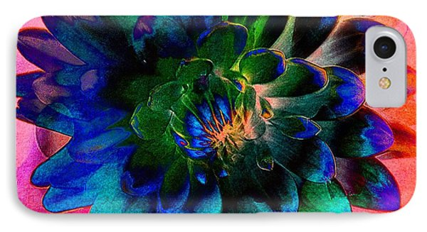Dahlia With Textures Phone Case by Kathleen Struckle