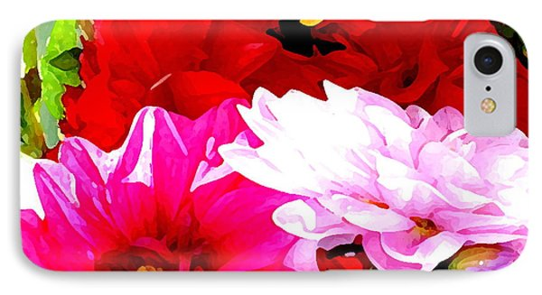 Dahlias  IPhone Case by Lehua Pekelo-Stearns
