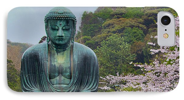 Daibutsu Buddha IPhone Case by Alan Toepfer