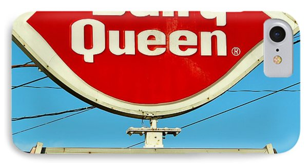 Dairy Queen Sign Phone Case by Cynthia Guinn