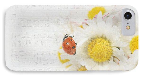 Daisies And Ladybug IPhone Case