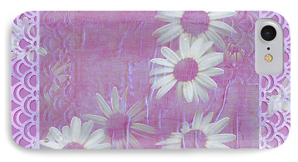 IPhone Case featuring the photograph Daisies And Paper Lace by Sandra Foster