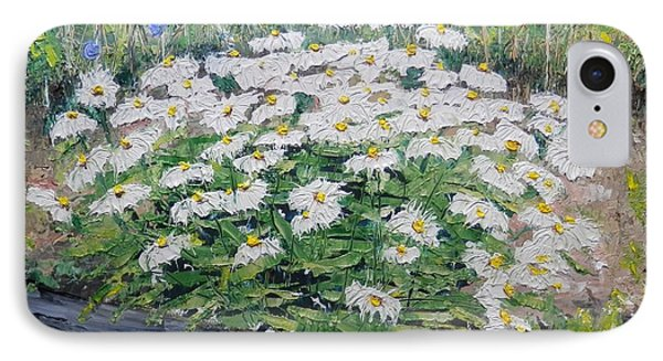 IPhone Case featuring the painting Daisies by Annamarie Sidella-Felts