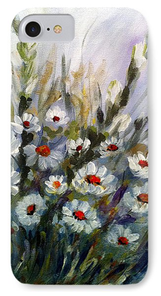 IPhone Case featuring the painting Daisies by Dorothy Maier