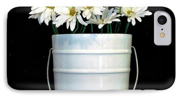 Daisies Fill My Bucket List IPhone Case by Marsha Heiken
