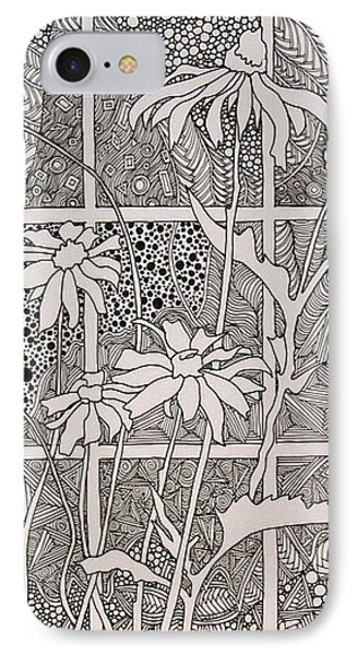 Daisies In A Window IPhone Case by Terry Holliday